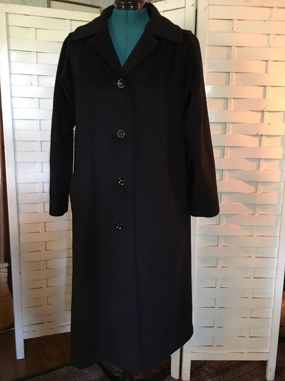1950's Vintage Woman's Cashmere Overcoat