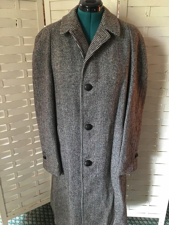 Vintage Harris Tweed Men's Trench Coat