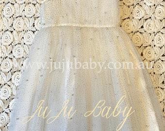 Birthday Dress, Formal Dress, Special Event Dress, Flower Girl Dress, Wedding Dress, Party Tutu Dress, 1st Birthday Dress, White Tutu Dress
