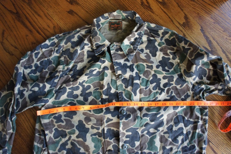 Vintage Streetwear LARGE  XL 48 Chest skate surf military 1970\u2019s Camouflage Hunting Jacket Hunting Clothes SafTBack