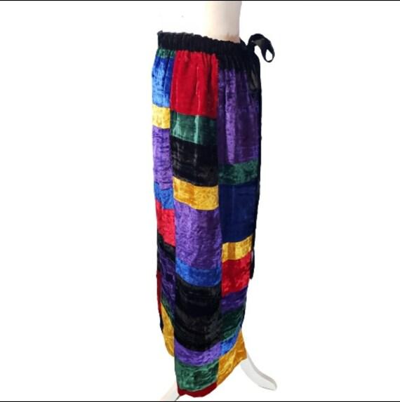 Mr. Hank Vintage Patchwork Velvet Skirt - image 5