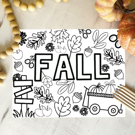 Fall harvest leaves coloring coloring pages coloringfall