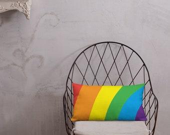 Rainbow Pillow / LGBT Pride decor Pillow
