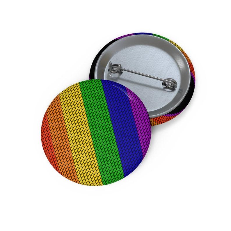 Tiny Rainbows Pin  LGBT Flag Pin  Queer Pride