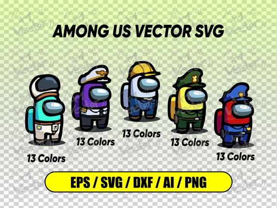 Among Us Pack Skins Vector Svg Png Dxf Ai Digital File Etsy