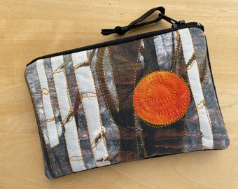 Credit Card Pouch -Sunset Birches