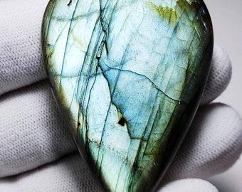 Smooth Loose Cabochon 23x15x8 mm Size Pear Shape Gemstone Natural PURPLE LABRADORITE 40/% Off +++AAA Quality Labradorite Lb#4782