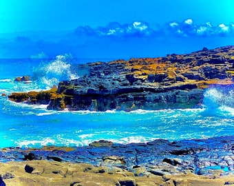 "Nature photography: acrylic print wall art, ""Makahuena Point South"""