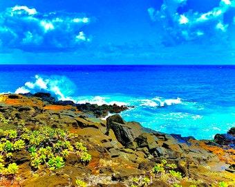 "Nature photography: acrylic print wall art, ""Makahuena Point East"""