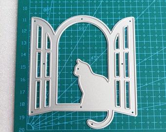Moon cat Leather die Cutters crescent moon  steel rule punch cutting die craft tools cat earrings dies