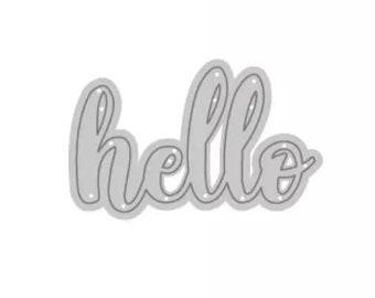 Lower case Die Cut Crafts Cardmaking Hello Metal Cutting Die Hello Word Die