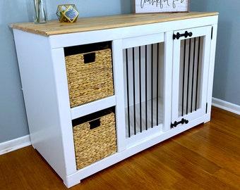 Dog Bed, Dog Crate Furniture, Dog House, Dog Crate, Pet Furniture, Indoor Dog House, Large Dog Crate with shelves