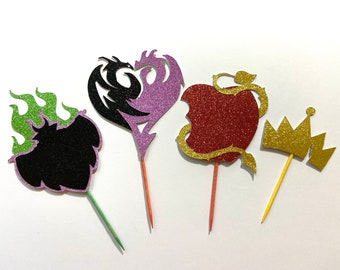 Descendant-inspired Cupcake Toppers