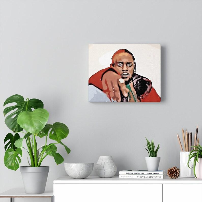 Kendrick Lamar Kendrick Lamar Poster Kendrick Lamar Canvas Wall Art Kendrick Lamar Canvas