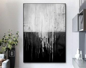 Black White Painting Etsy
