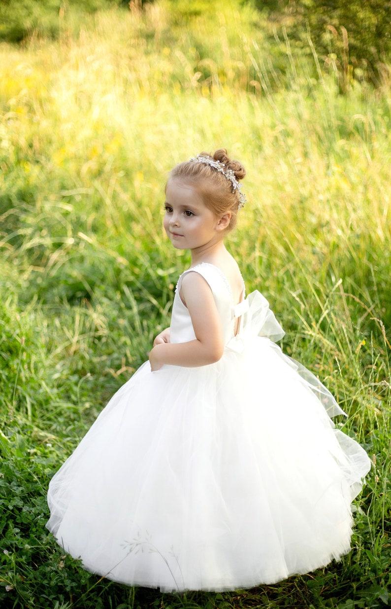 Langes Kleid Blumenmädchen BlumenmädchenKleid Spitze   Etsy