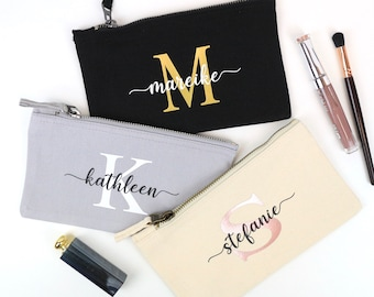 Cosmetic bag personalized gift best friend mother sister colleague grandma bride women JGA, birthday gift personalized