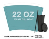 Blank Strata Tumbler Full Wrap Svg Cut File 22oz Tumblers Png - Digital File for Cricut and Silhouette Cameo - Strata Cup Svg -Strata Svg
