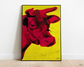 Andy Warhol Cow Exhibition PosterAndy Warhol PrintWall DecorWall Art