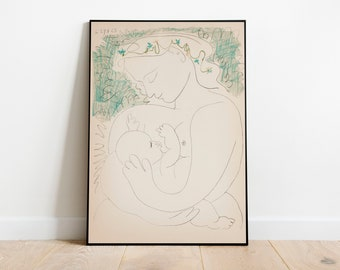 Maternity - Pablo Picasso Art Print, Modern Art Print, Picasso Art Poster, Vintage Poster art, A3 A4 A5 Poster, Art Print