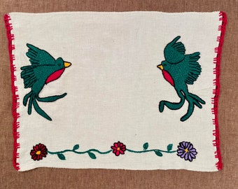 H86 Original Generational Arts embroidered on Manta Cloth by asylum-seekers stranded at the U.S. - Mexico Border