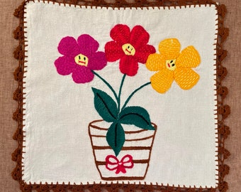M150 One-of-a-kind Generational Arts embroidered on Manta Cloth by asylum-seekers stranded at the U.S. - Mexico Border
