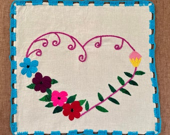 M152 One-of-a-kind Generational Arts embroidered on Manta Cloth by asylum-seekers stranded at the U.S. - Mexico Border