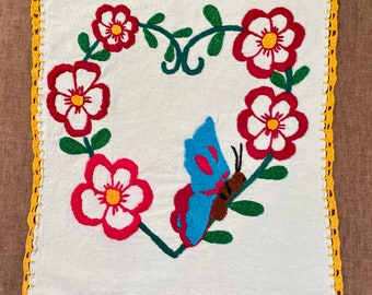 M151 One-of-a-kind Generational Arts embroidered on Manta Cloth by asylum-seekers stranded at the U.S. - Mexico Border
