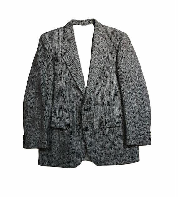 Vintage Harris Tweed Woolen Sport Jacket Blazer Co