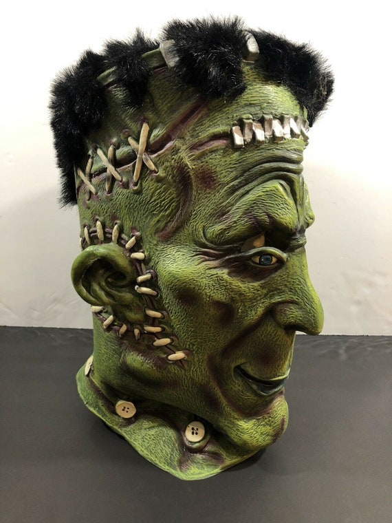 2002  Halloween Latex Frankenstein Mask Scary Horr