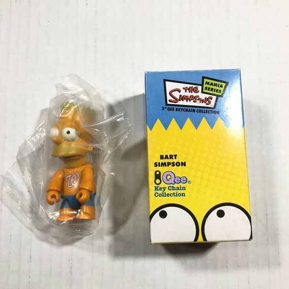 "The Simpsons Mania Series Qee Keychain 3"" Bootleg"