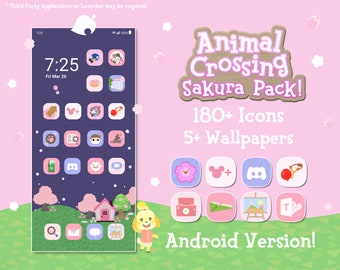 Android App Icons - Animal Crossing - Sakura Edition (180+ Icons) with Wallpapers