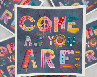 Come As You Are Nirvana Sticker