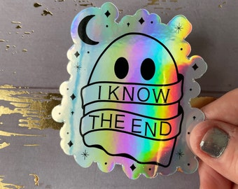 Ghost I Know the End Sticker