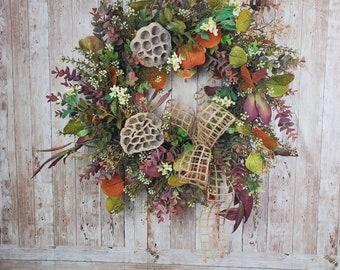 Autumn Wild Wreath   FallWreath for Home Decor