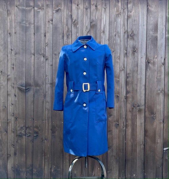 Vintage Women's Navy Blue Trench Coat