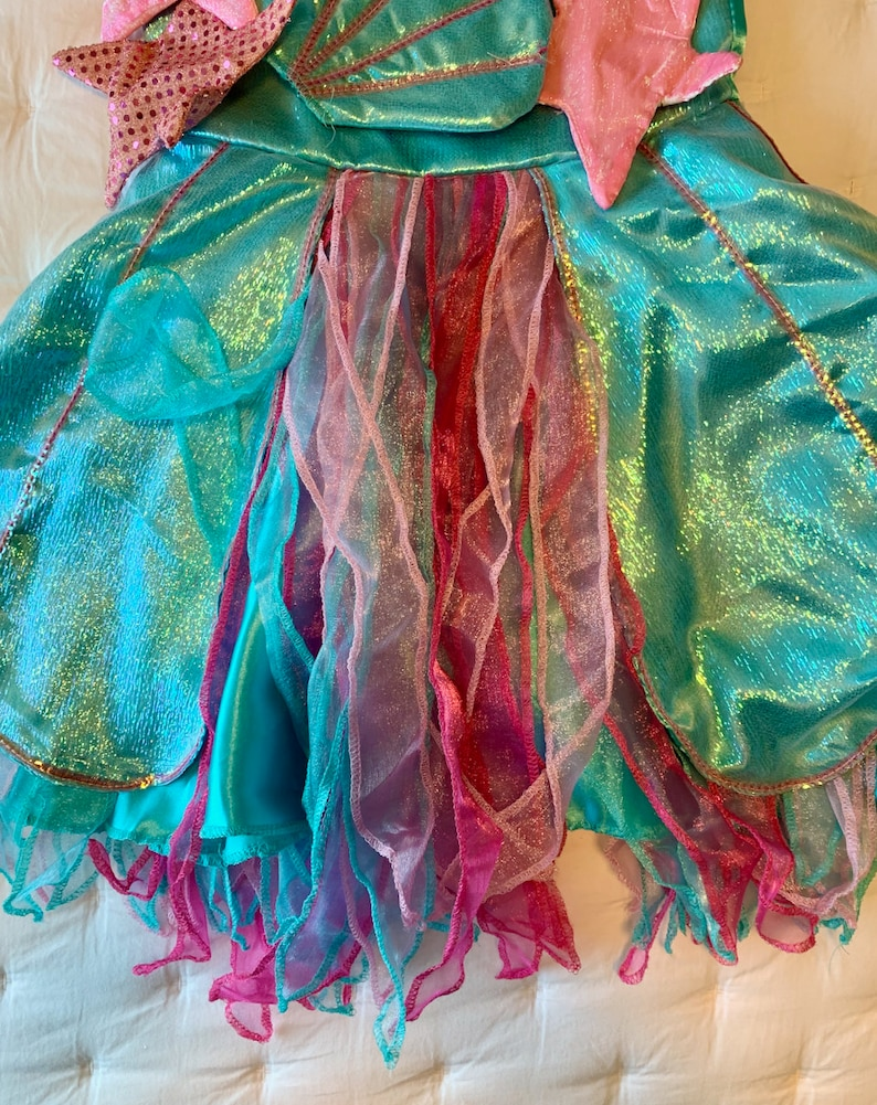 Girls 10 Blue and pink sparkle! Chasing Fireflies Under the Sea Fairy Dress