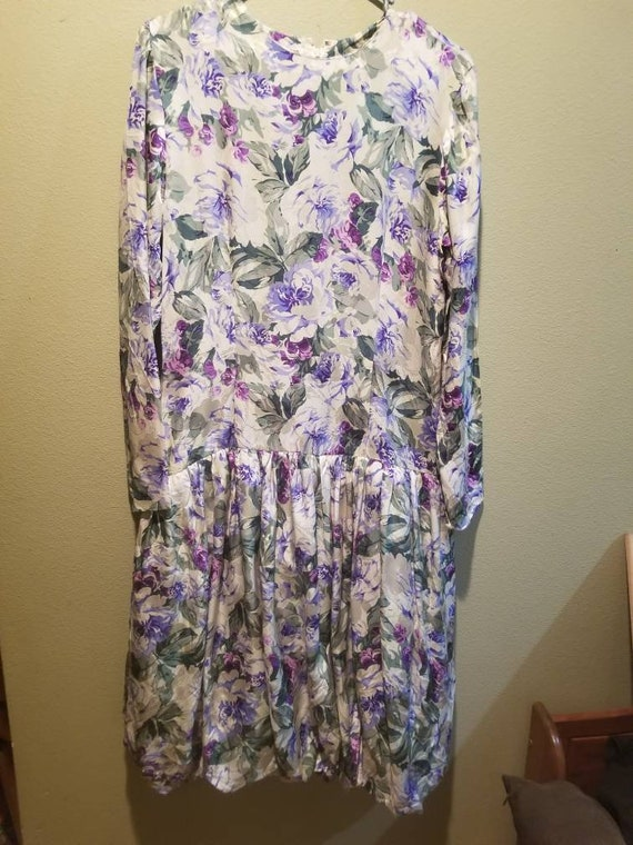 1980's maggy London silk dress