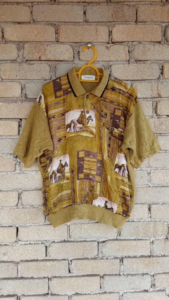 Vintage Japanese Brand Lambamor Polo Sweater Sweat