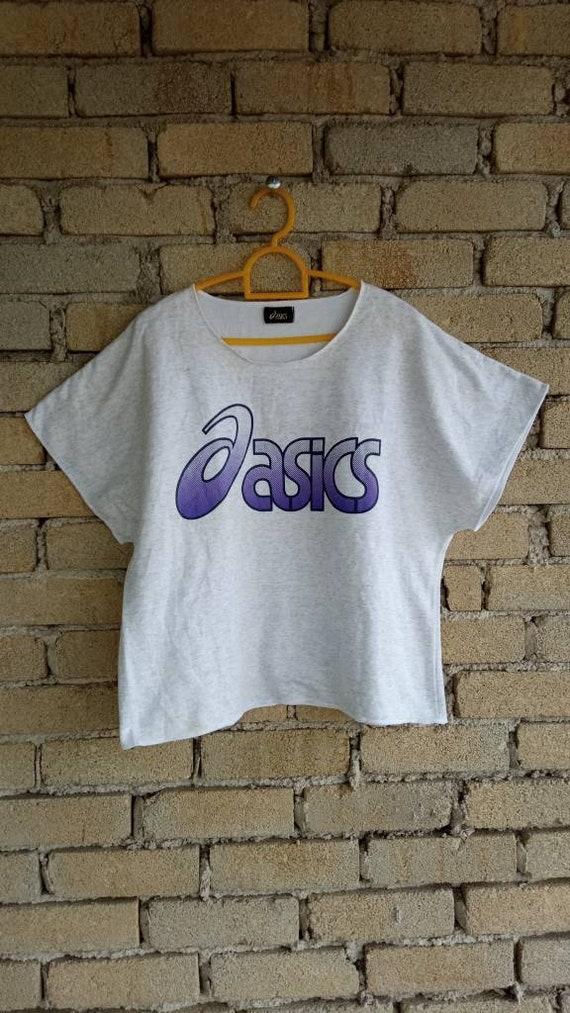 Vintage Asics Sportswear Cropped T-shirt