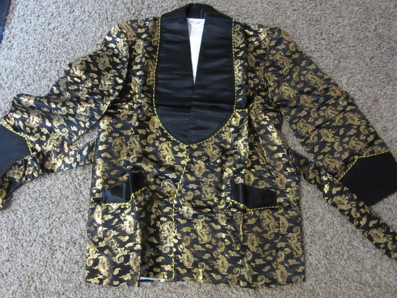 Japanese Jacket  Black and Gold with belt