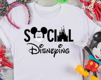 Social Disneying Shirt, Disney Shirt, Matching Family Shirts, Quarantine Disney Shirt, Disney Family Vacation Tee, Disney World Family Shirt