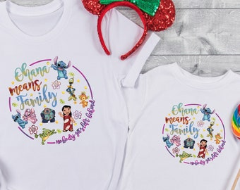 Lilo and Stitch Shirt , Disney Trip Shirt, Matching Disney Shirts, Disney vacation , Disney family shirts , Stitch Shirt, Ohana Means Family