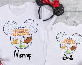 Animal Kingdom Family T-Shirts, Hakuna Matata Shirts, Animal Kingdom Day, Lion King Family Disney T-Shirts, Animal Kingdom Timon And Pumba