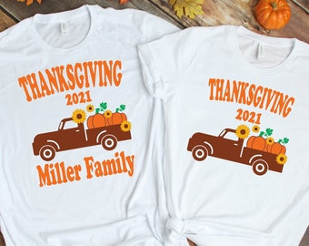 Thanksgiving Family Matching Shirts, Personalized Thanksgiving Family T-Shirt, Family matching Shirt, Thanksgiving 2021, Family Thanksgiving