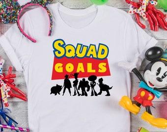Squad Goals Toy Story Disney  Shirt, Matching Disney Shirts, Disney vacation 2021, Disney family shirts ,Disney kids shirts, Disney matching