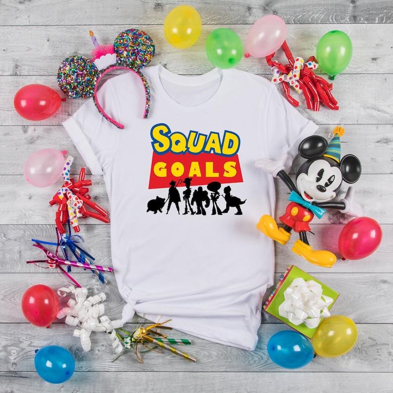 Squad Goals Toy Story Disney  Shirt Matching Disney Shirts image 1