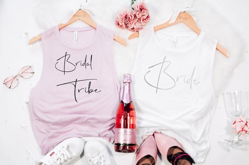 Bride Squad Babes Tank Top Bridesmaid Shirt Bachelorette Shirts Bride Shirt Bride Shirts Bridal Part Maid Of Honor Bride Tribe Gift