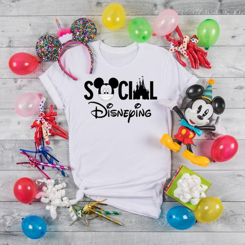 Social Disneying Shirt Disney Shirt Matching Family Shirts image 1