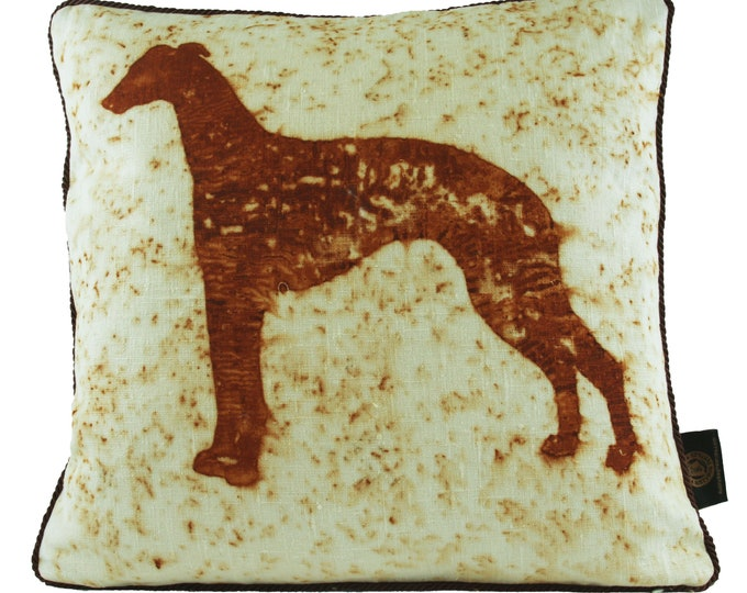 """Italian Greyhound Dog  Rusted Pillow Cover  18""""x 18"""""""